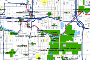 Click on the map for a map of Lansing Parks and River Trails.