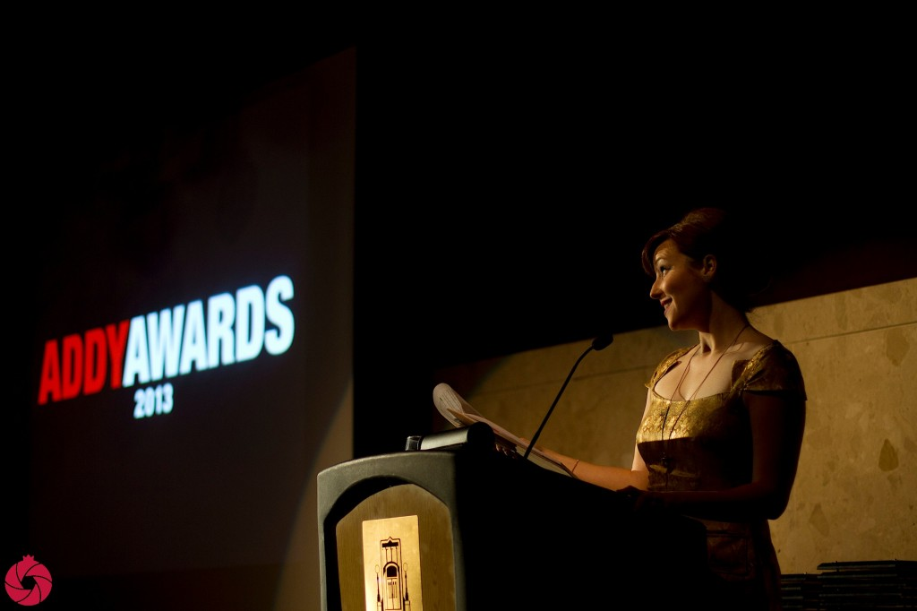 The wonderful Kat Cooper was the master of ceremonies at this year's ADDYs.